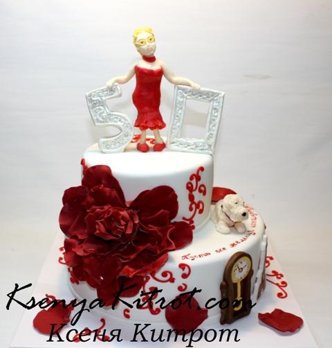 торт для мамы на юбилей фото